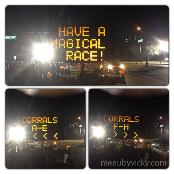 Disney World Half Marathon 2013 - corral signage