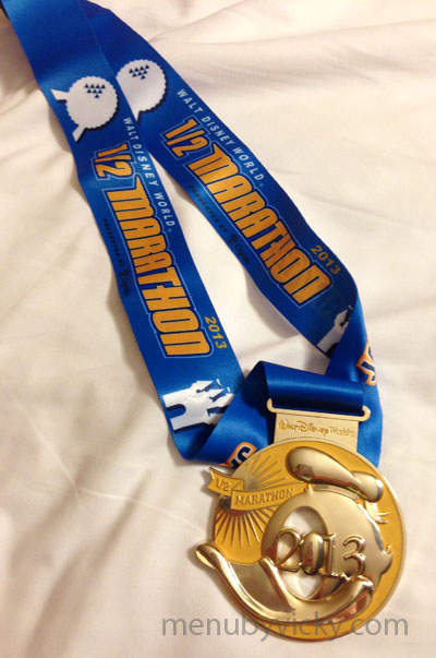 Disney World Half Marathon 2013 - medal