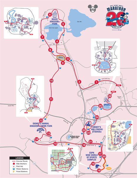 Disney World  2013 Marathon - Course Map