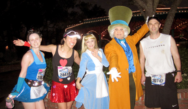 Rebecca, myself, Alice, The Mad Hatter and Robbie