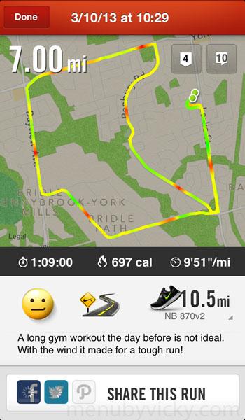 Nike+ Run Summary Screen