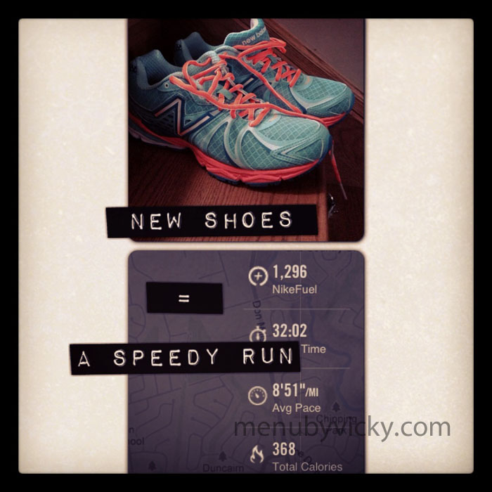 New Shoes = Speedy Run