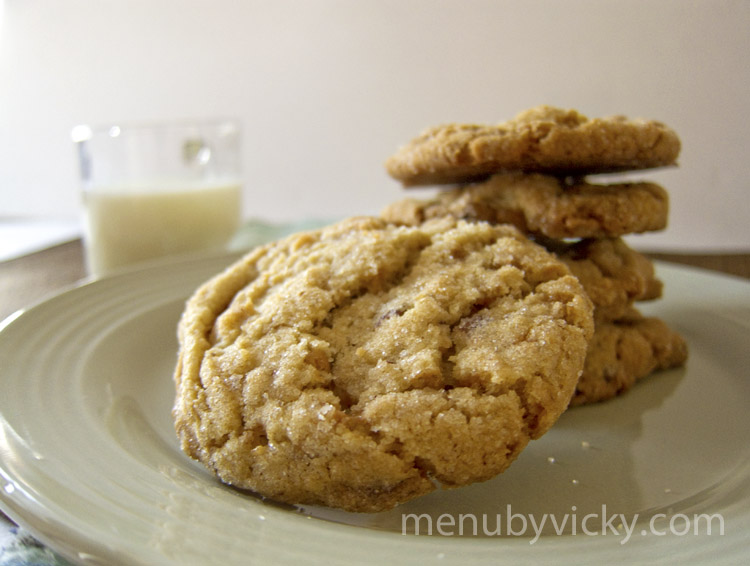 salty sweet butter pecan cookie