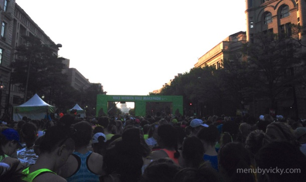 View of the start line from my corral. So ... squished.