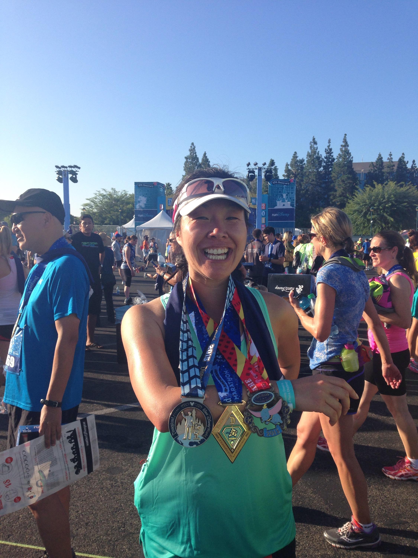 2015 Disneyland Half Marathon medals