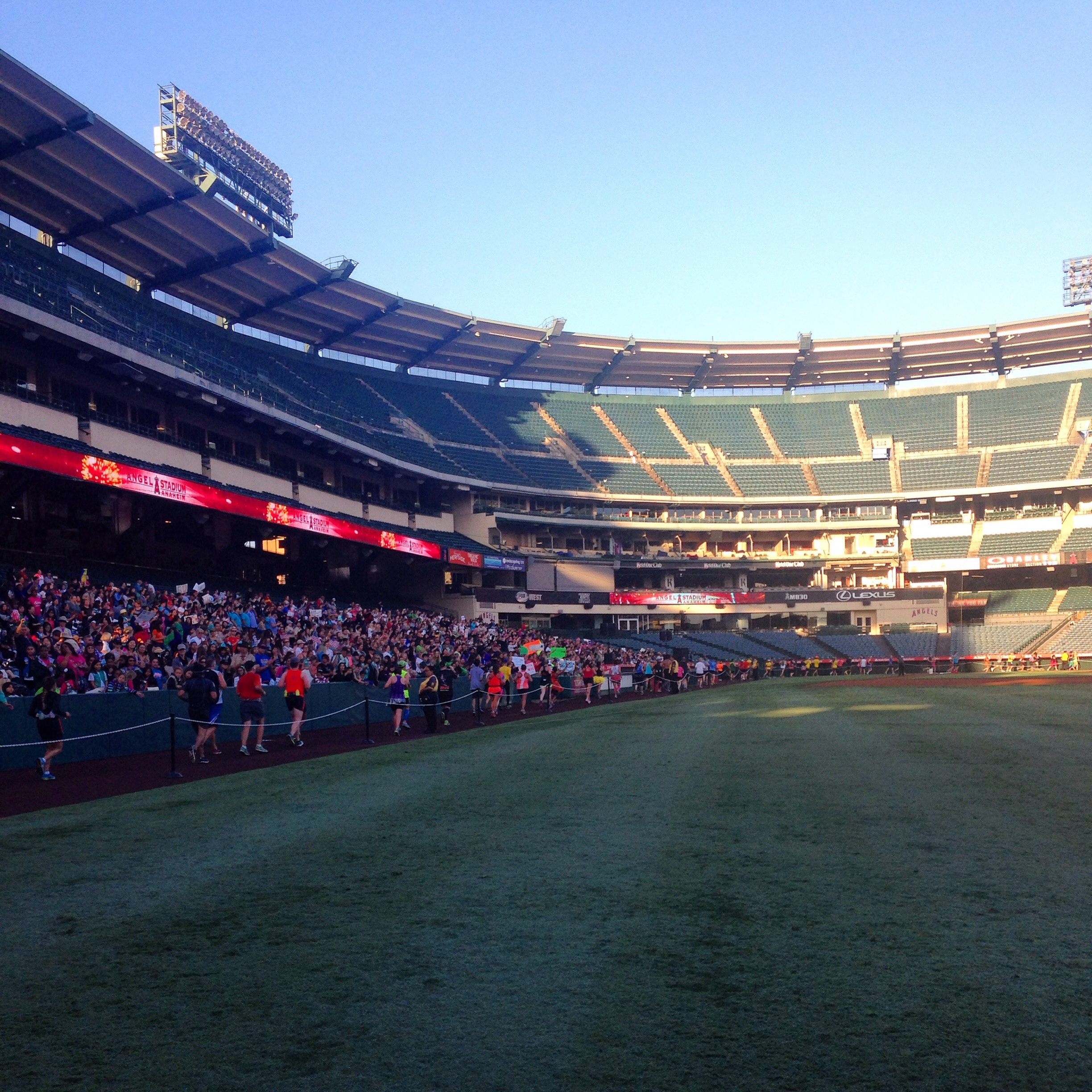 Angels Stadium of Anaheim during the 2015 Disneyland Half Marathon