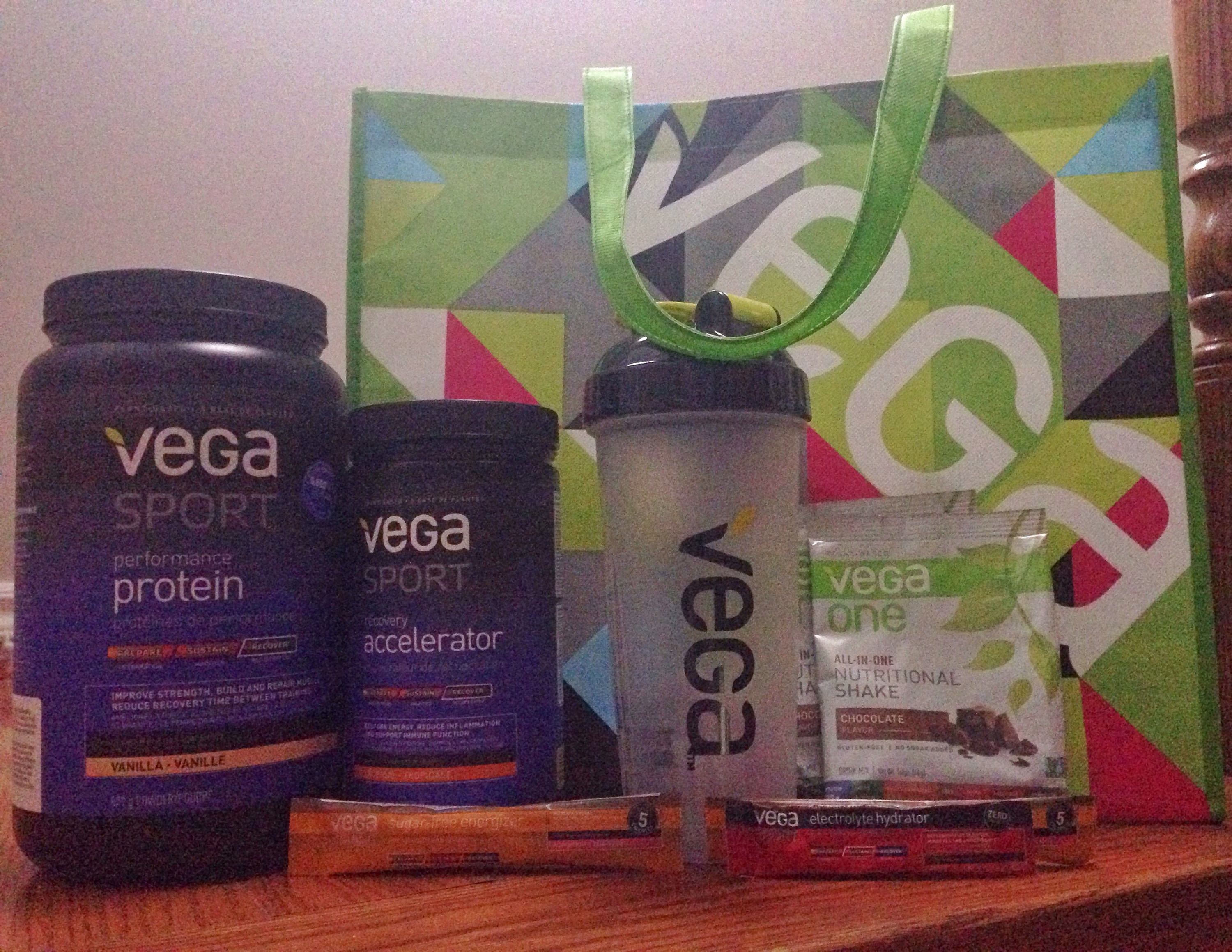 The goodies we were given for attending Vega's Community Influencer Event