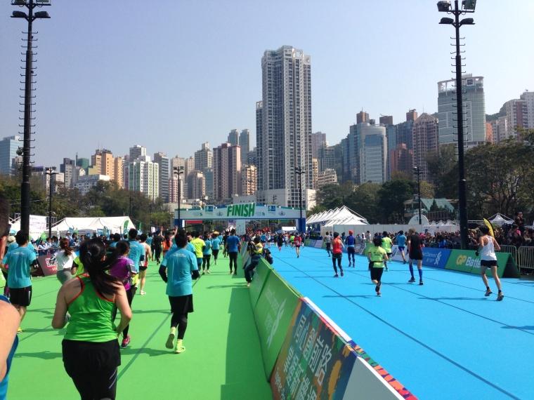 HK Half Finish Line