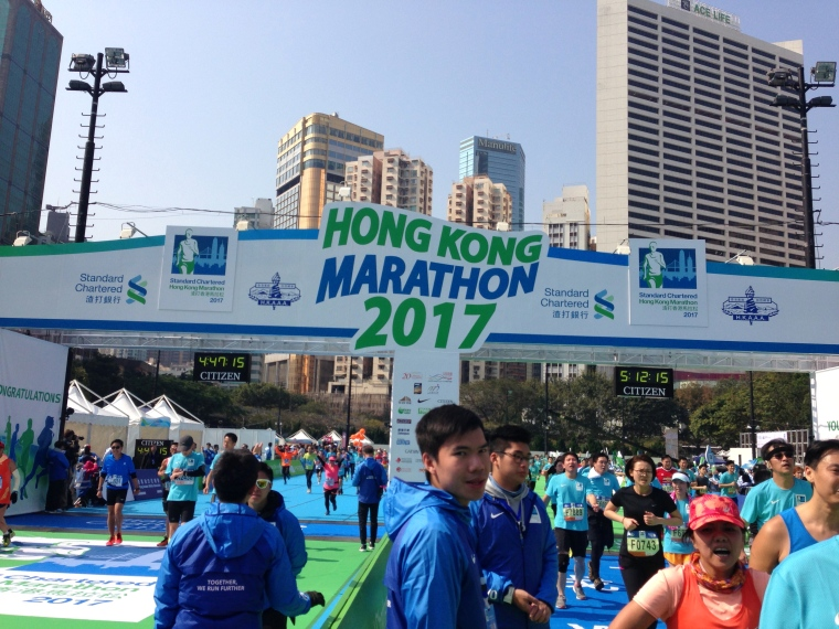 HK Half Marathon Finish