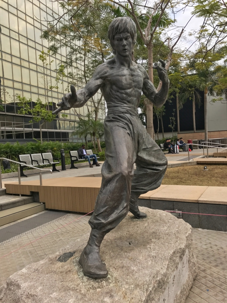 Statue of Bruce Lee at Hong Kong's Avenue of Stars