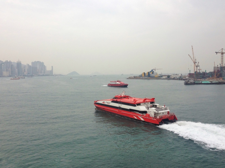 The high speed ferry from Hong Kong to Macau