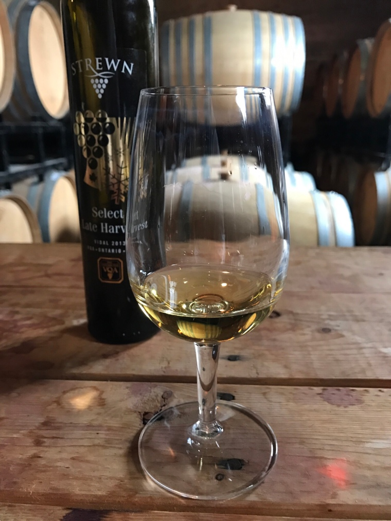 Ice wine from Strewn winery